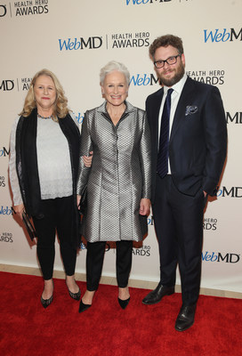 Jessie Close, WebMD Health Hero People's Choice Award Winner Glenn Close, and Seth Rogen Attend the WebMD Health Hero Awards Gala at TimesCenter on November 5, 2015