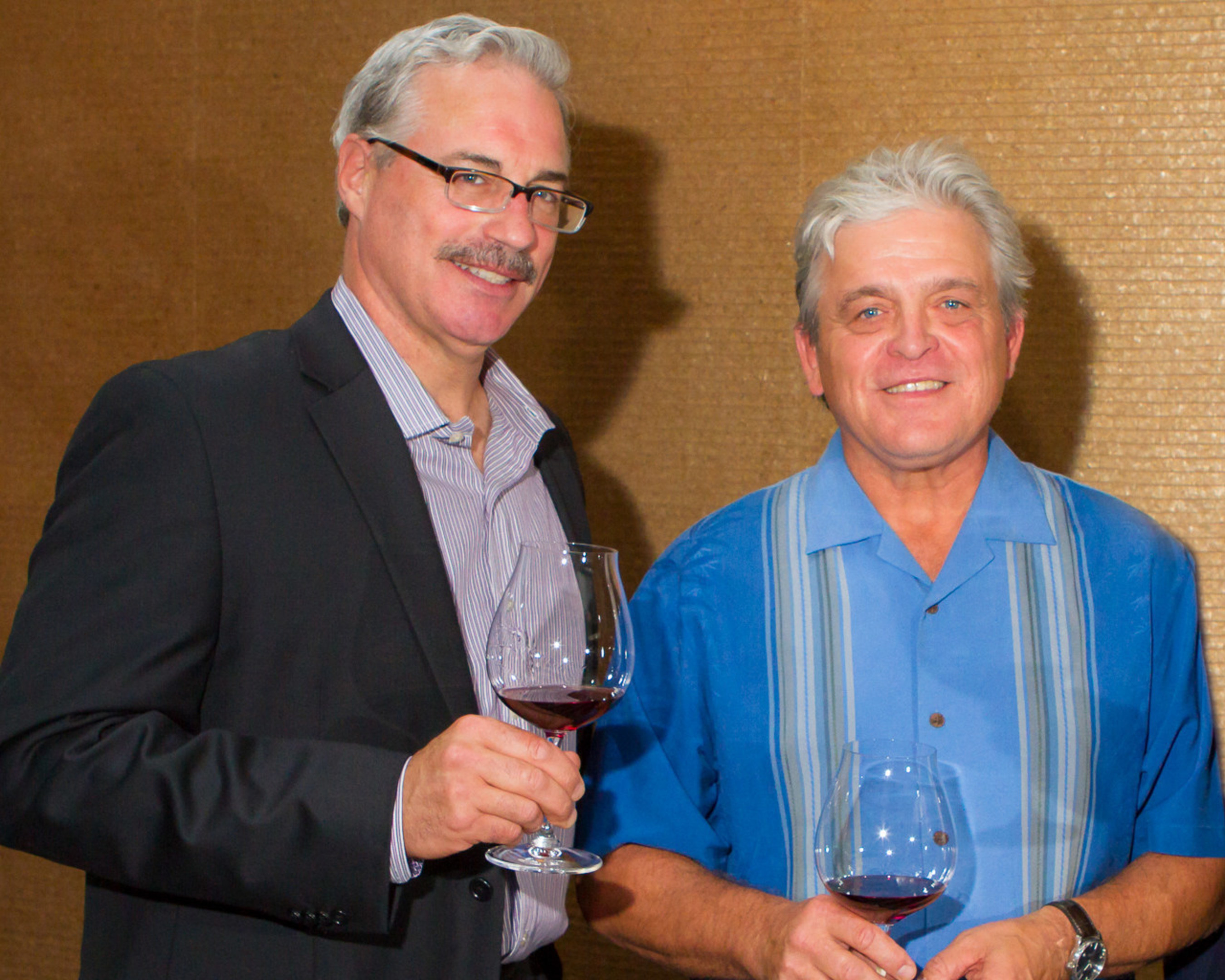 (L-R) Tony Rynders, Consulting Winemaker of Panther Creek Cellars and Ken Wright, Founder of Panther Creek Cellars and Ken Wright Cellars. Photo Credit: Chris Bidleman