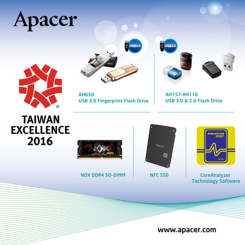 Apacer Receives the 24th Taiwan Excellence Award
