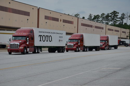 TOTO supports Oklahoma tornado relief and rebuilding by shipping its beautiful, high-performance bathroom ...