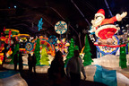 Families experience the holiday spirit with Christmas at the Galt House Hotel in Louisville, Kentucky. Santa rides a snowboard in the Arctic Playground in the KaLightoscope Attraction. The larger-than-life luminaries are handcrafted by artisans to give guests an experience full of magic and wonder! New this year is the Peppermint Express Kiddie Train Ride through the Candy Cane Forest, with nearly 100 animated characters including Mr. Sugar Pine the talking tree.  And, make sure to visit the Snow Fairy Princess and her Castle in the Christmas Village.  (PRNewsFoto/Galt House Hotel)