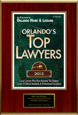 "Mary Ann Morgan Selected For ""Orlando's Top Lawyers"".  (PRNewsFoto/American Registry)"