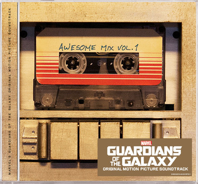 MARVEL'S GUARDIANS OF THE GALAXY AWESOME MIX VOL. 1 SOUNDTRACK COVER ART (PRNewsFoto/Hollywood Records)
