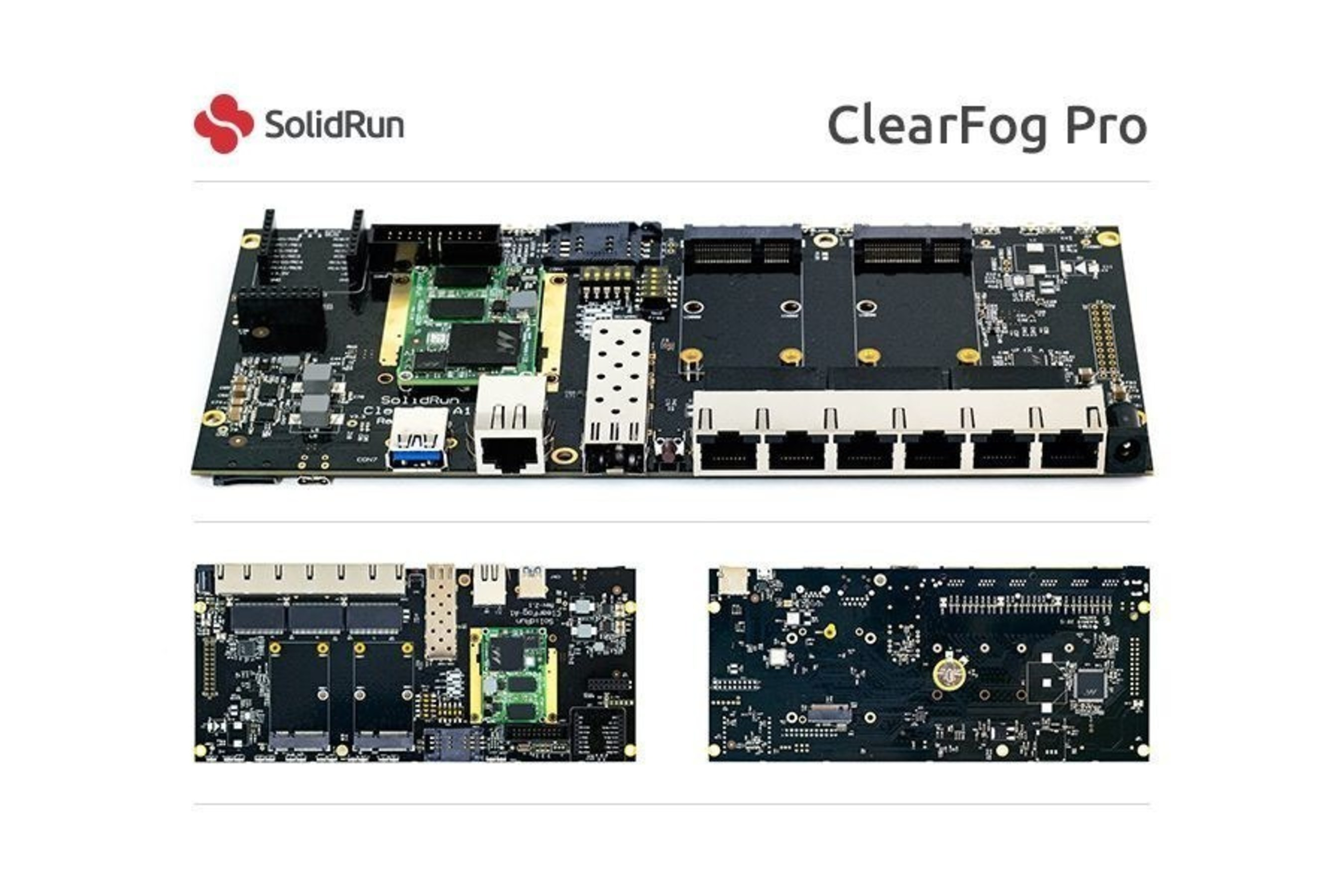 SolidRun Announces ClearFog: The First Open Development Kit Based on Marvell's New ARMADA 38x SoC