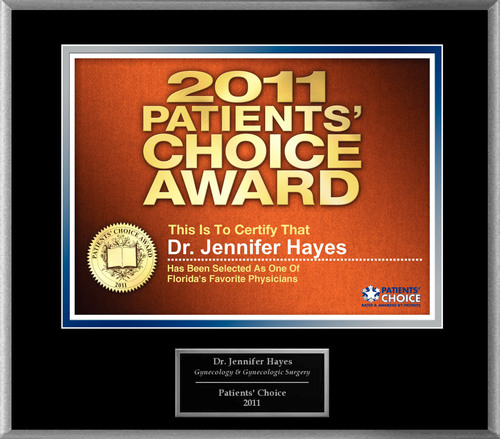 Dr. Jennifer S. Hayes Selected for Patients' Choice Award 2011