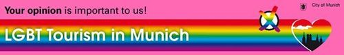 To start the Internet questionnaire, users may click the button featuring Munich's silhouette on a rainbow background. (PRNewsFoto/Munich Tourist Board)