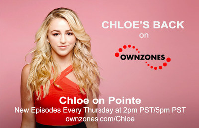 'Chloe On Pointe' only on OWNZONES Media Network. Watch for Exclusive Video Blogs, Behind-the-scenes Content, Favorite On-stage Performances and Entertaining Dance Tutorials From Reality Star and Breakout Dance Phenom, Chloe Lukasiak