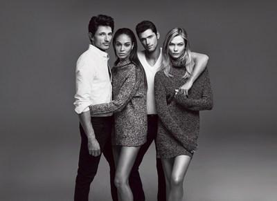 Joe Fresh Fall 2015 campaign featuring models Andres Velencoso, Joan Smalls, Sean O'Pry and Karlie Kloss (Johan Sandberg/ Courtesy Joe Fresh)