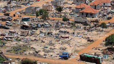 Tamil areas devastated by Sri Lanka government shelling where 70,000 civilians perished.  (PRNewsFoto/United States Tamil Political Action Council)
