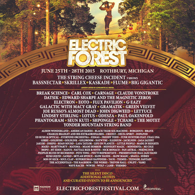 Insomniac Reveals Lineup for 5th Annual Electric Forest Festival, June 25-28, 2015