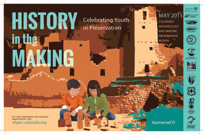 "May is Archaeology and Historic Preservation Month (AHPM)! To both celebrate the achievements of youth in preservation and encourage new people to get involved with preservation, the theme for this year is ""History in the Making: Celebrating Youth in Preservation."" On May 11 and 13 History Colorado will partner with National Park Media Trips, Great Outdoors Colorado, Xanterra Parks & Resorts, Library of Congress Teaching with Primary Sources, Colorado Newspapers in Education, and Visit Estes Park to host 1,000 students and teachers at the History Colorado Center."