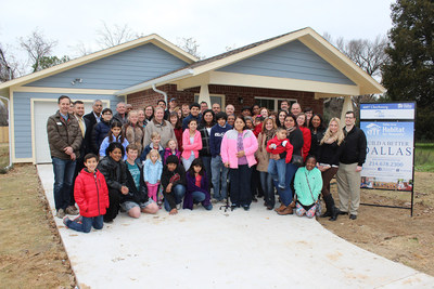 FHLB Dallas employees and Dallas Area Habitat for Humanity joined the Gonzales family in celebrating the completion of their new home in the historic Joppa neighborhood of Dallas.
