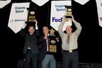 ABF Champions Tim Melody, Ralph Garcia and Tony Spero at the NTDC 2013 podium.  (PRNewsFoto/ABF Freight System, Inc.)