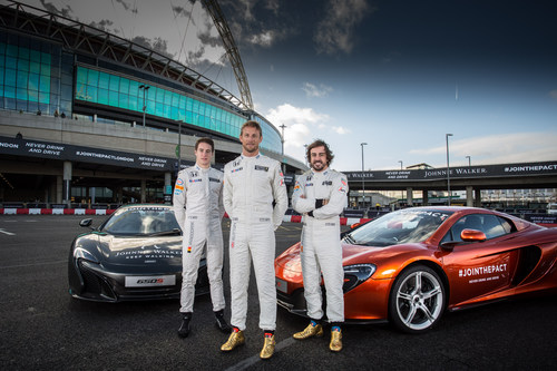 Fans turned out in huge numbers at Wembley Park to witness a 'Driving Spectacular' featuring McLaren ...