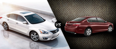 Ingram Park Nissan compares the 2015 Nissan Altima and the 2015 Honda Accord. (PRNewsFoto/Ingram Park Nissan)