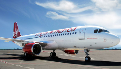 """Virgin America is marking the four million member Elevate(R) loyalty program member milestone by naming its new Airbus A320, """"Flights with Benefits"""""""