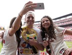 Eight-Time Nathan's Famous Hot Dog Eating Contest Champion, Joey Chestnut, takes a selfie to be uploaded to www.NathansSelfie.com.