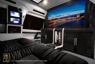 Interior of the NOIR, an armored and luxurious Toyota Land Cruiser Conversion by Lexani Motorcars