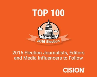 Top 100 2016 Election Journalists, Editors and Influencers