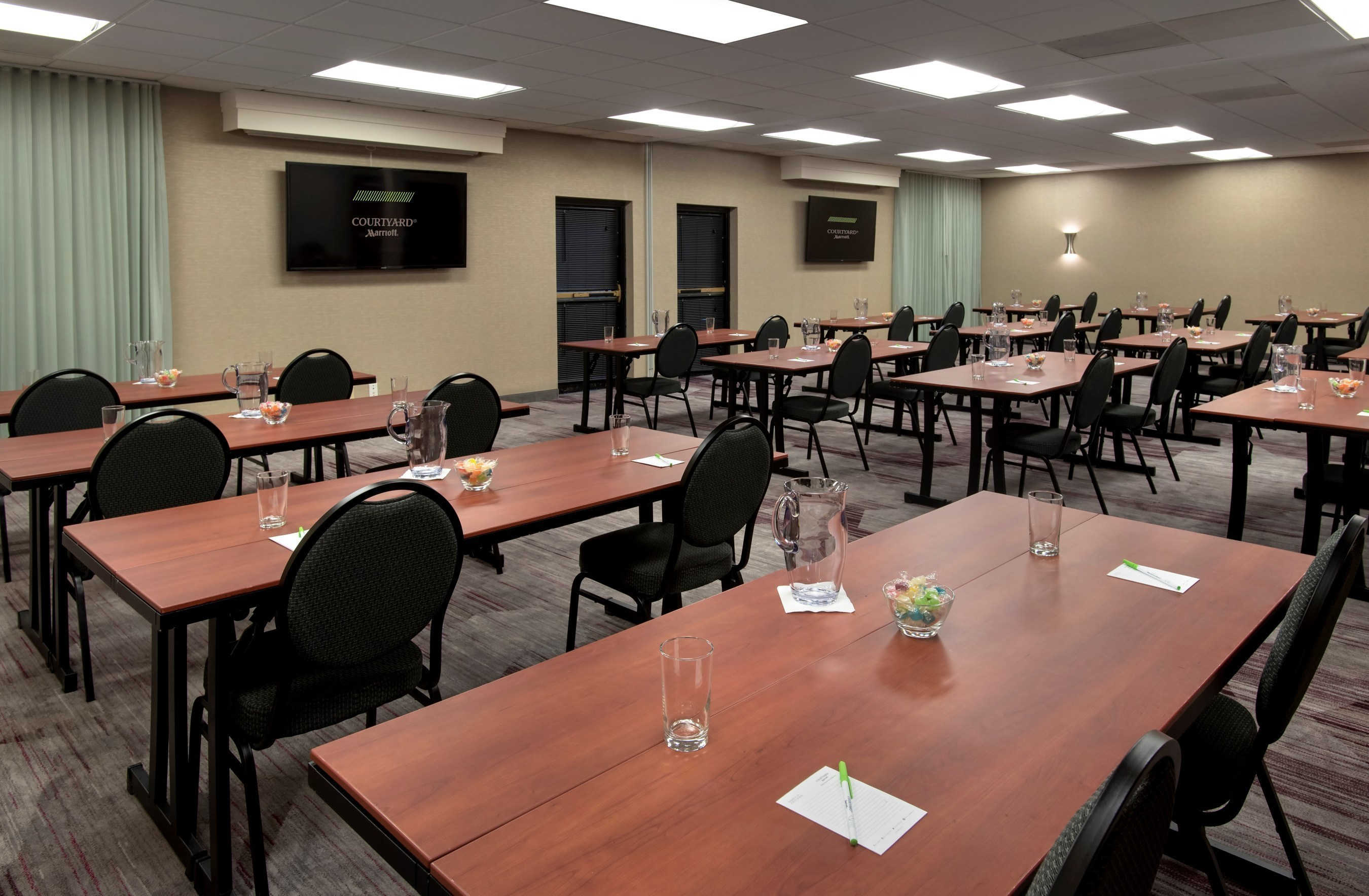 Courtyard Mt. Laurel has just renovated its two meeting rooms boasting a combined 1,200 square feet. The reimagined event space now features a modern color palette, new carpet, enhanced AV and an air wall for extra flexibility. Complimentary Wi-Fi is available in both venues. For information or to make reservations, contact Monica Dougherty, sales executive, at 1-917-355-1338 or visit www.MtLaurelCourtyard.com.