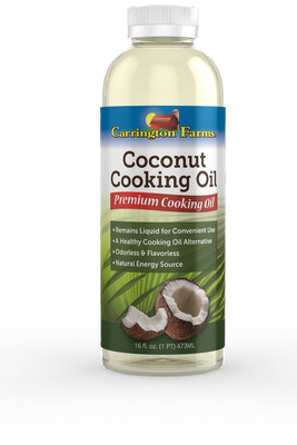 Carrington Farms Liquid Coconut Cooking Oil.  (PRNewsFoto/Carrington Co., LLC)
