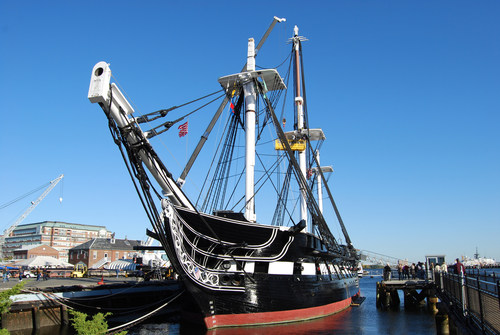 "Boston's legendary USS Constitution, nicknamed ""Old Ironsides"" for victories during the War of ..."
