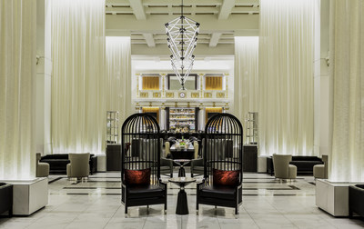 New and revitalized lobby of Boston Park Plaza