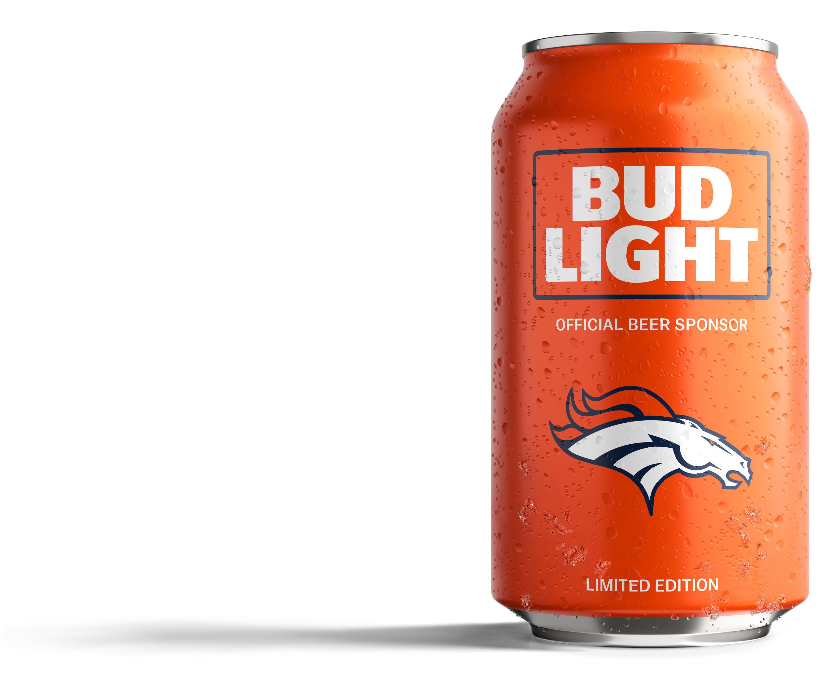 2016 DENVER BRONCOS NFL KICKOFF BUD LIGHT BEER CAN SPORT CHAMP COLORADO FOOTBALL