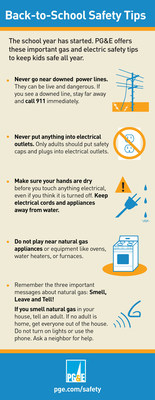 PG&E's Back-to-School Safety Tips (PRNewsFoto/Pacific Gas and Electric Company)