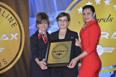 "Virgin America Is Double-Award Winner In 2014 World Airline Awards: Airline Honored with ""Best Airline Staff Service in North America"" and ""Best Low-Cost Airline in the U.S.A."" (PRNewsFoto/Virgin America)"