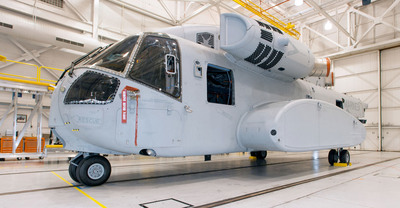 Sikorsky has delivered the first CH-53K prototype heavy lift helicopter for ground-based flight tests. The aircraft will triple the U.S. Marine Corps' external load carrying capacity to more than 27,000 pounds over 110 nautical miles in hot/high conditions.  (PRNewsFoto/Sikorsky Aircraft Corp.)