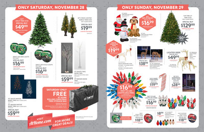 At Home Black Friday Special Buys available Nov. 27-Nov. 29, 2015.