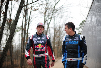 Pastrana and Higgins will swap their stage rally cars for rallycross cars at upcoming Red Bull GRC events. (PRNewsFoto/Subaru of America, Inc.)
