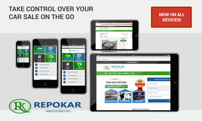 Take control over your car sale on the go with Repokar's NEW mobile device platforms!