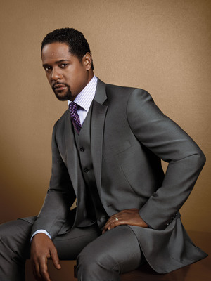 Blair Underwood shows off a two-button, 100 percent wool-vested suit, part of his BU Collection, a premier line of men's tailored suits, now available exclusively at K&G Fashion Superstore and on KGstores.com.  (PRNewsFoto/K&G Fashion Superstore)