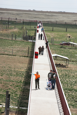 The Mile Into The Wild elevated walkway is an innovation in exotic animal viewing. By keeping humans off the ground, it preserves the sanctity of the animals' territory, providing a stress-free experience for the wildlife. (PRNewsFoto/The Wild Animal Sanctuary)