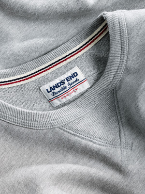 The new American made Durable Goods collection from Lands' End features classically styled sweats and tees designed in Wisconsin, grown in Texas and crafted in California.  (PRNewsFoto/Lands' End)