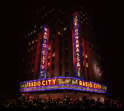 In January 2015, Joe Bonamassa took the iconic Great Stage at Radio City Music Hall for the first time for a sold-out, two-night run that allowed him to fulfill his lifelong dream of performing in one of the world's most legendary venues. On October 2, 2015, Bonamassa will share this experience with fans and music lovers around the world when he releases Joe Bonamassa - Live At Radio City Music Hall (J&R Adventures) as a CD/DVD set and CD/Blu-ray set.