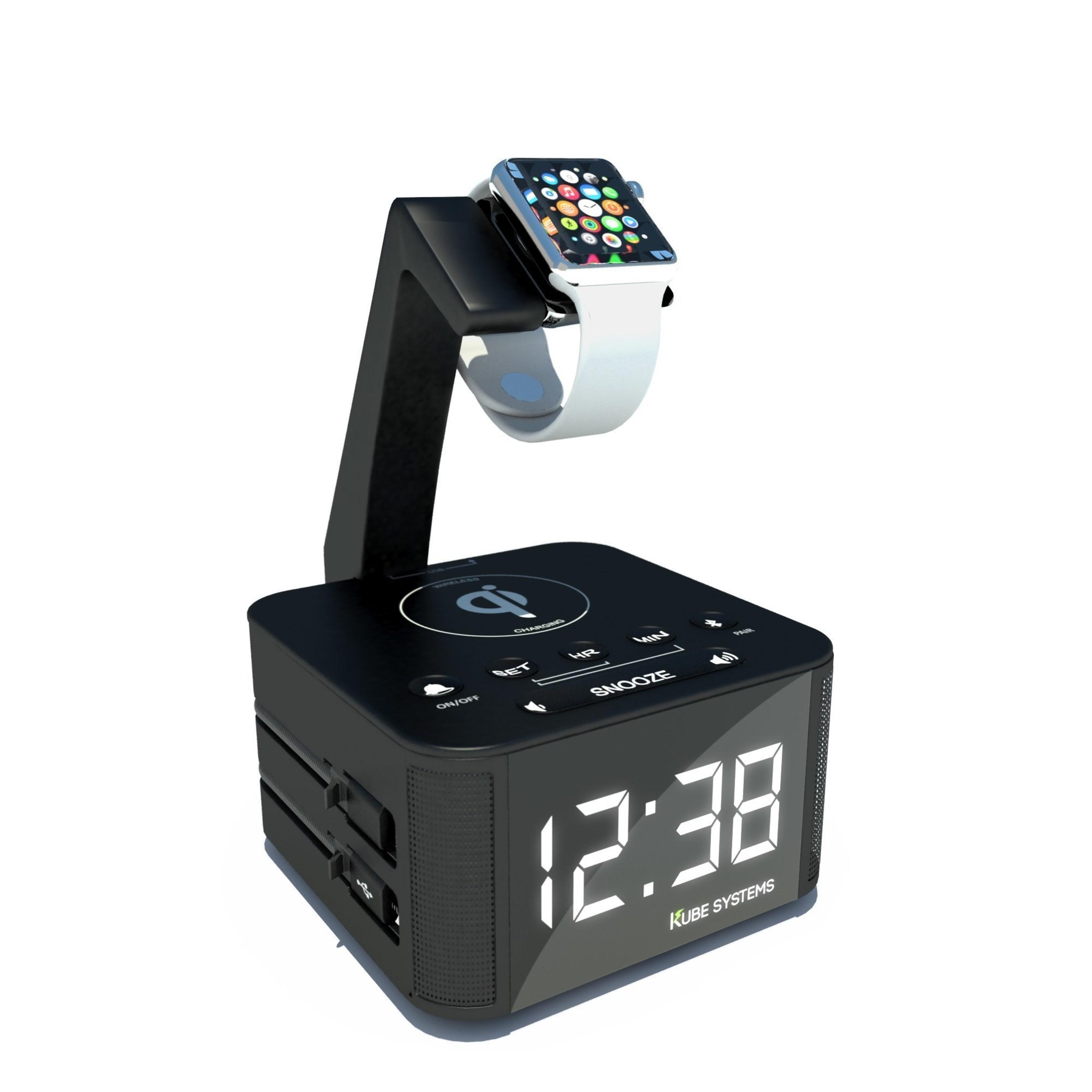 KS Clock(TM) with apple watch attachment