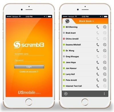 Scrambl3(TM) app and phone book