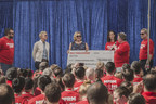 During Mattress Firm's Give Big Day with Ellen DeGeneres on Feb. 12, the nation's largest mattress retailer donated $25,000 and volunteered to help clean and beautify a Los Angeles elementary school. In photo (left to right): Ken Murphy (Co-Chief Operating Officer, Mattress Firm), Heather Lowe (Principal, Evergreen Elementary School), Karrie Forbes (Chief Business Officer, Mattress Firm) , Dale Carlsen (President & Chief Strategy Officer, Mattress Firm), and Steve Stagner (Chief Executive Officer, Mattress Firm).