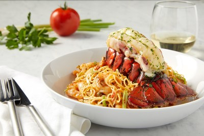 Broiled Main Lobster Tail & Creole Shrimp Pasta at BRIO Tuscan Grille
