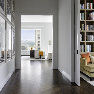 Entrance gallery in the model residence at 432 Park Avenue. Photo by Scott Frances for CIM Group & Macklowe Properties.