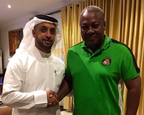 UAE KP Chair Ahmed Bin Sulayem with President of Ghana HE John Dramani Mahama (PRNewsFoto/Kimberley Process)