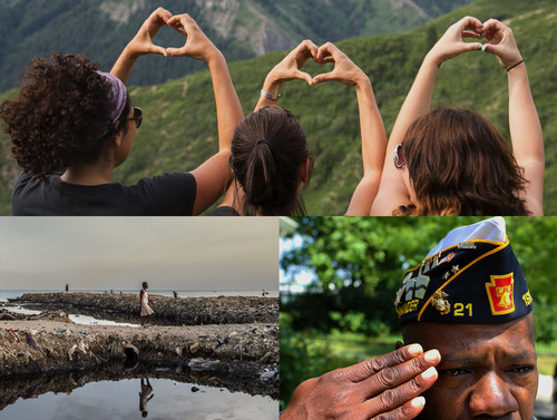 Photos of the work of Sundance Institute, St. Luke Foundation for Haiti, Help USA (PRNewsFoto/Kenneth Cole ...