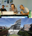 The research project led by Laurent Gutierrez, Valérie Portefaix and Project Supervisor (Cartography) Gilles Vanderstocken (middle) was conducted in the Jockey Club Innovation Tower, home of Hong Kong PolyU School of Design.