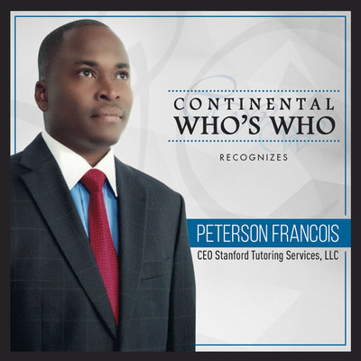 Peterson Francois is recognized by Continental Who's Who