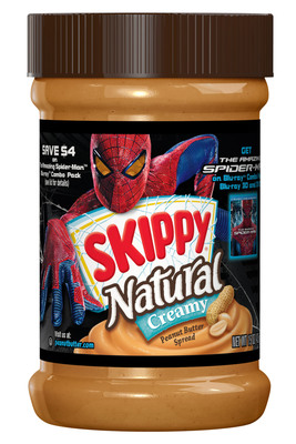 Skippy Introduces Limited Edition Jar to Celebrate The Amazing Spider-Man's DVD and Blu-ray Release.  (PRNewsFoto/Skippy)