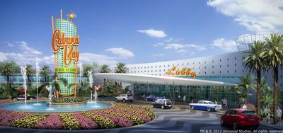 El nuevo hotel de Universal Orlando, el Universal's Cabana Bay Beach Resort, esta pautado para abrir en el 2014. El hotel ofrecera 1,800 habitaciones - incluyendo 900 suites familiares y 900 habitaciones estandares ofreciendo mas opciones de alojamiento de alta calidad para las familias que deseen hospedarse dentro del complejo a precios asequibles.  (PRNewsFoto/Universal Orlando Resort)