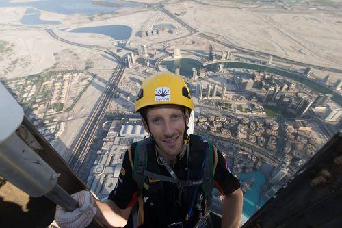 Lotus F1(R) driver Romain Grosjean scales new heights at Burj Khalifa